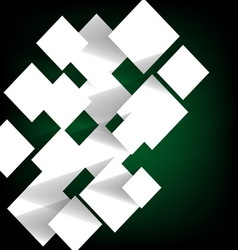 Paper square banner on green background vector image vector image