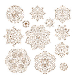 set of circular ornaments vector image