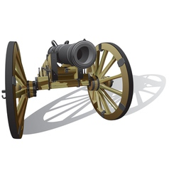 ancient field gun vector image vector image