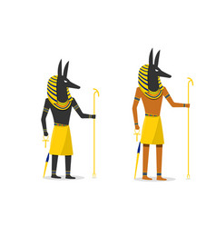 anubis in flat design isolated on white vector image