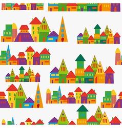 Cute town pattern vector