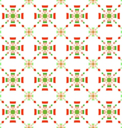 Red and green rectangle gropes flat seamless vector image vector image