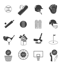 Sport Icons Black Set vector image