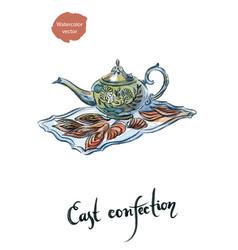 watercolor east confection vector image vector image
