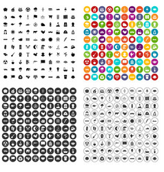 100 lotus icons set variant vector