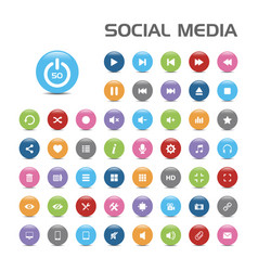 50 social media bubble icons vector image