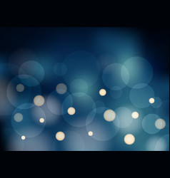 Abstract blue blurred background with bokeh vector