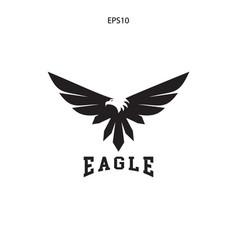 abstract eagle bird fly catch logo vector image