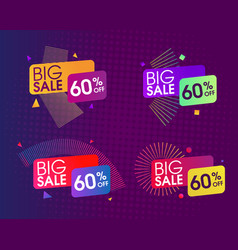 Abstract sale design set vector