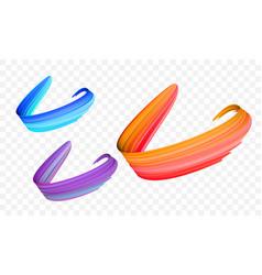 Acrylic paint brush stroke gradient color vector