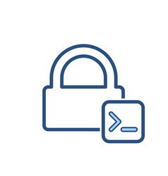 admin console input lock office icon vector image