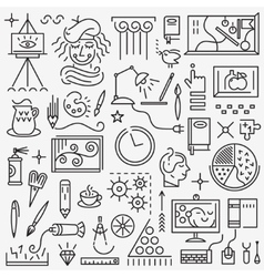 Art - set icons vector image