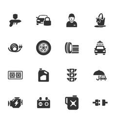 auto icons set vector image