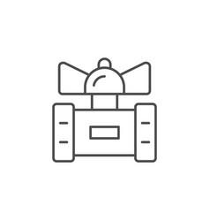 Ball valve line outline icon vector