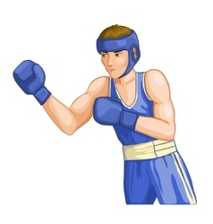 Boxing man image eps10 vector