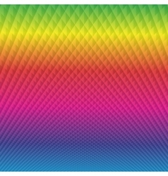Bright rainbow with diamonds background vector
