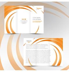 brochure trifold leaflet geometric spiral element vector image