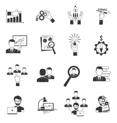 Business Icon Black vector image