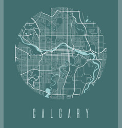 Calgary map poster decorative design street map vector
