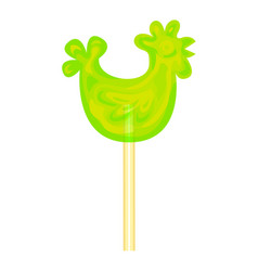 candy cock stick icon cartoon style vector image