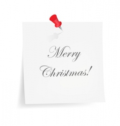 Christmas note paper vector image
