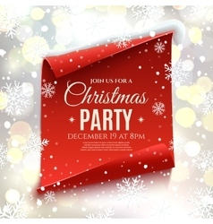 Christmas party invitation vector