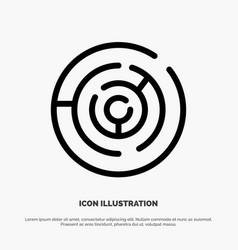 circle circle maze labyrinth maze line icon vector image