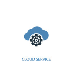cloud service concept 2 colored icon simple blue vector image
