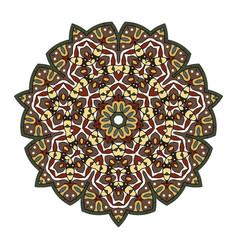 colorful mandala on a white background vector image