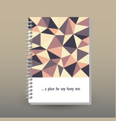 cover of diary or notebook retro polygonal pattern vector image