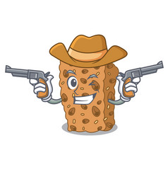 Cowboy granola bar character cartoon vector