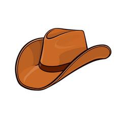 Cowboy stetson hat light brown vector