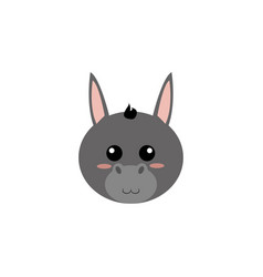 cute animal face vector image