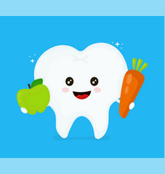 cute smiling happy healthy tooth vector image