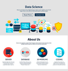 data science website design vector image