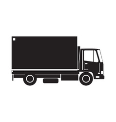 Delivery Truck Side Retro vector