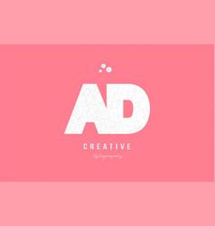 design of alphabet letter logo ad a d combination vector image