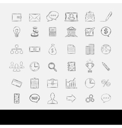 Doodle business icons vector image