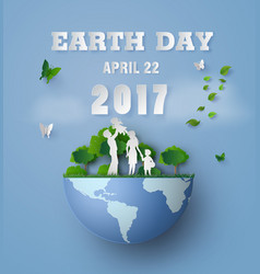 earth day with family vector image