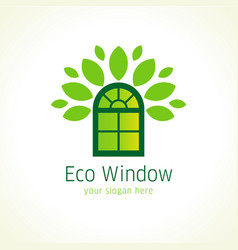 eco window logo vector image