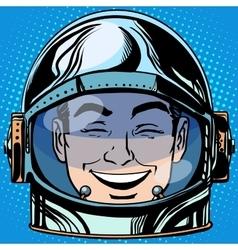 emoticon laughter Emoji face man astronaut retro vector image