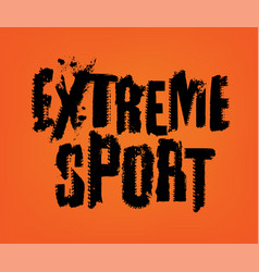 Extreme sport lettering vector