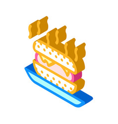 Fast food smell isometric icon vector