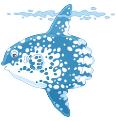 Fish-moon vector