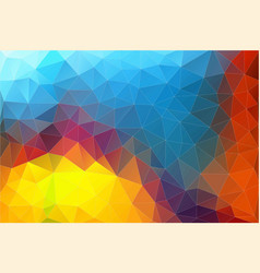 flat horizontal abstract 2d geometric colorful vector image