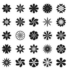Flower symbol set vector