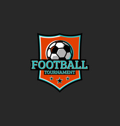 football tournament club or league sticker sport vector image