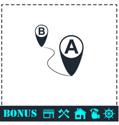 gps icon flat vector image