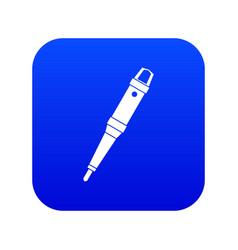 Grip of tattoo machine icon digital blue vector