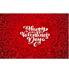 happy valentines day typography design for vector image